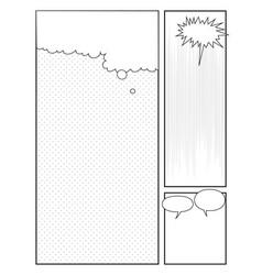 Manga style page design comics pop art style vector