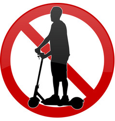 No electric scooters sign vector