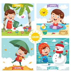 of seasons vector image