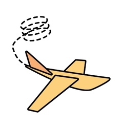 paper plane start up symbol line dotted vector image