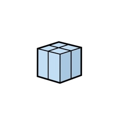 Parcel box vector