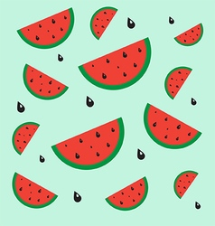 Pattern watermelon vector