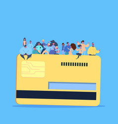 people group on credit card payment electronic vector image