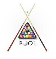 pool billiards background vector image