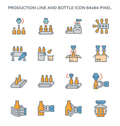 production line icon vector image