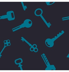 Seamless background with keys vector