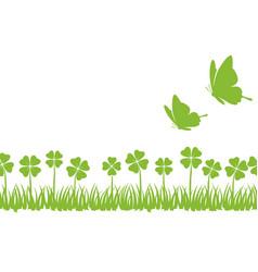 seamless springtime background vector image