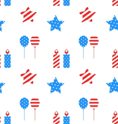 Seamless Texture with Objects for Independence Day vector image