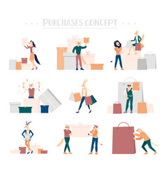 shopping people concept purchase vector image