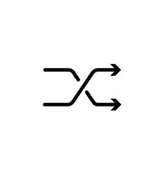 shuffle icon random sign randomize simple thin vector image