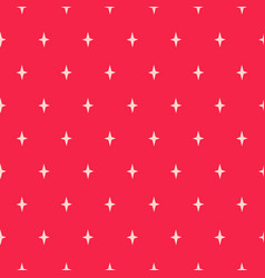 simple star shapes red seamless pattern vector image