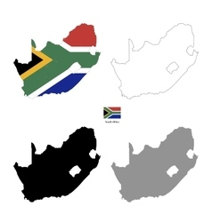 south africa country black silhouette and vector image