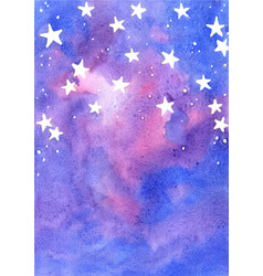 star on fairy tale sky watercolor background vector image