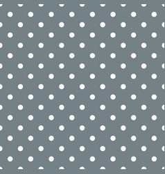 tile pattern with white polka dots on grey blue vector image