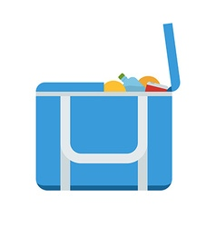 Tourist Freezer Bag or Lunch Box Icon vector image