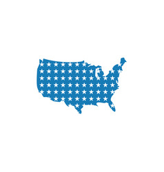 usa map graphic design template isolated vector image