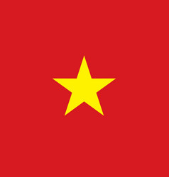 vietnam flag banner vector image