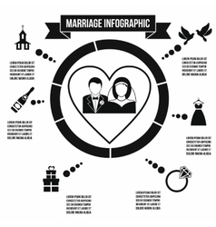 Wedding marriage infographic vector