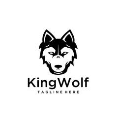 wild wolfs head vector image