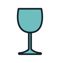Wine glass beverage vector