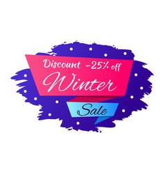 Winter discount -25 off vector