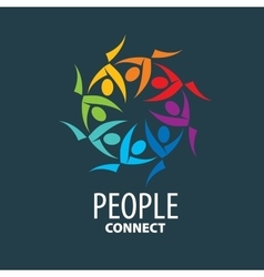 logo people vector image