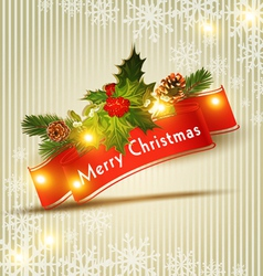 festive Christmas background vector image vector image