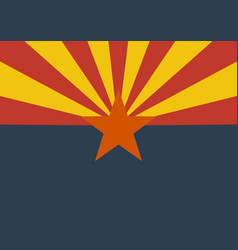 flag of the us state of arizona vector image