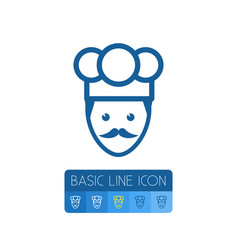 isolated chef outline cook element can be vector image
