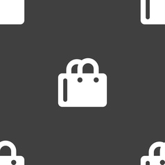 shopping bag icon sign Seamless pattern on a gray vector image