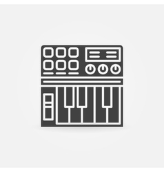Synthesizer icon or logo vector image