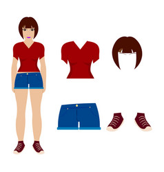 women and clothes vector image
