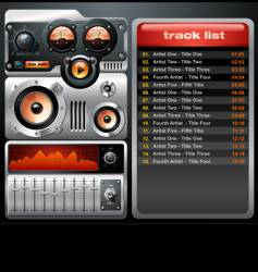 analog mp3 player vector image vector image