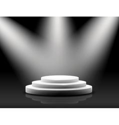 empty podium on black vector image
