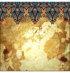 floral pattern in gold grunge background vector image