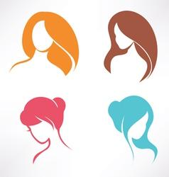 haircut icons set vector image vector image