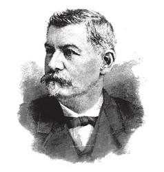 major-general george b mcclellan vintage vector image vector image