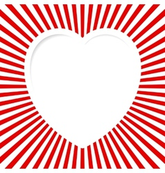 Red Valentine Card vector image