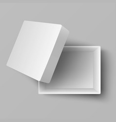 blank white open cardboard gift box top view 3d vector image