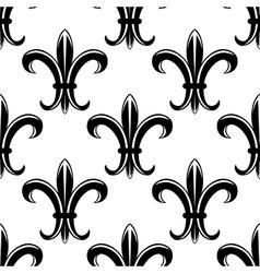 Classic fleur de lys seamless tracery pattern vector