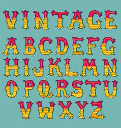 hand drawn vintage alphabet set vector image vector image