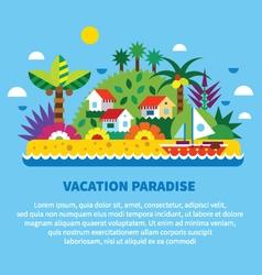 House on island in tropics vector image
