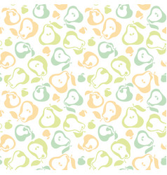 Pale color pear fruit seamless pattern for fabric vector