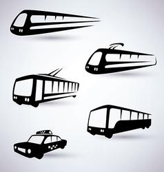 public city transport icons set vector image