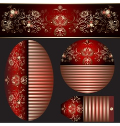 Set gradient banners various shapes vector image vector image