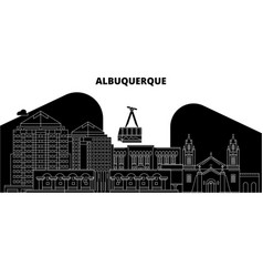 Albuquerqueunited states skyline travel vector