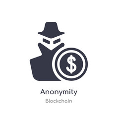 Anonymity icon isolated icon from vector