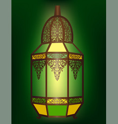 Arabic lantern isolated vector