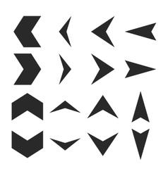 Arrowheads Flat Icon Set vector