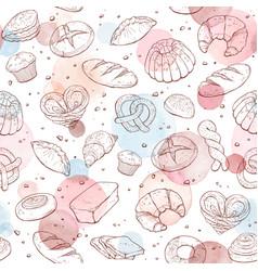baking patetrn watercolor vector image